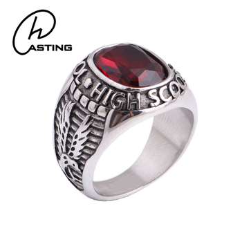 Personalized Stainless Steel Unique High School Class Rings
