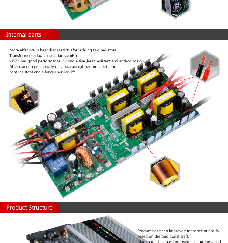 3000w 12v 24v Dc To Ac 110v 230v Pure Sine Wave Inverter With Charger - Buy  Pure Sine Wave Inverter With Charger,Pure Sine Wave Inverter,Inverter With