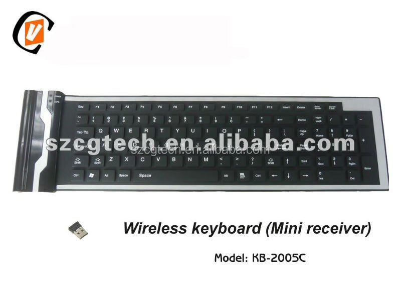 Bluetooth keyboard, dustproof flexible keyboard with touch-mouse.