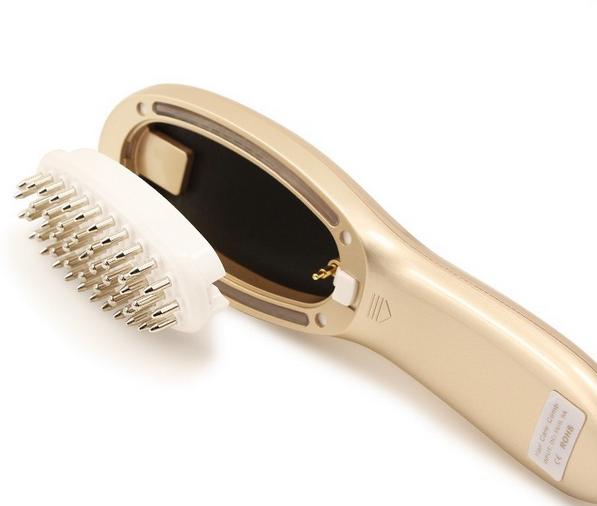 Shenazhen Sunray brand hair grow comb laser massage magic comb added medicine liquid
