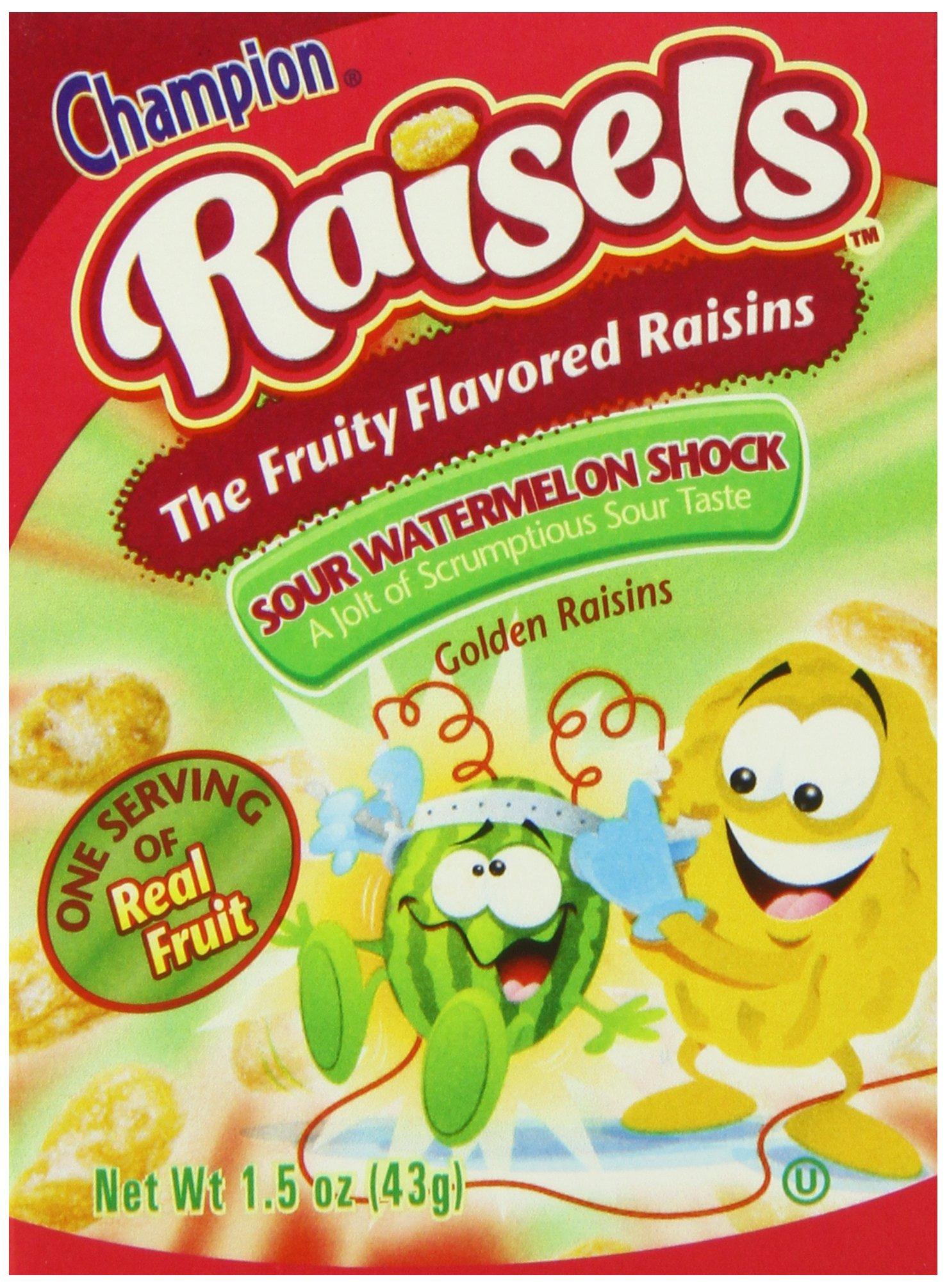 Buy Champion Raisels Sour Lemon Blast 6 Count Pack Of 12 In Cheap