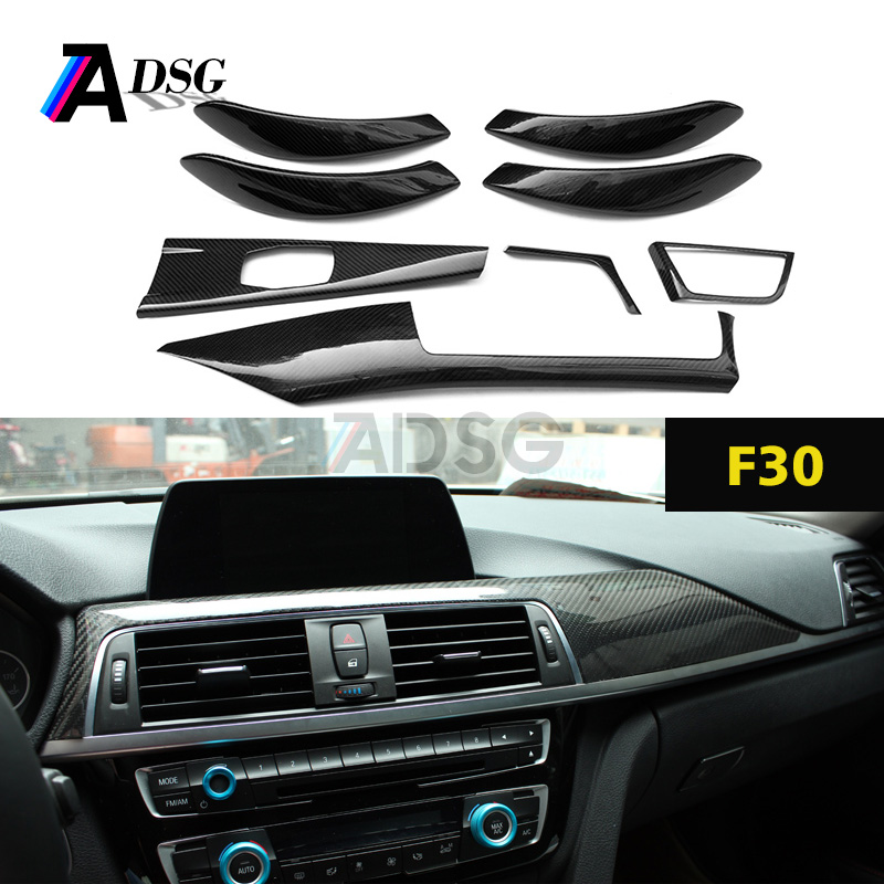 F30 Carbon fiber Dashboard Interior Moulding Trims for BMW F30