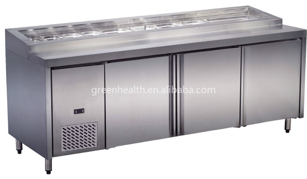 Restaurant Kitchen Refrigerator commercial salad bar display refrigerator for hotel/restaurant