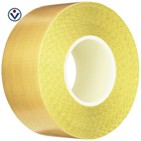 0.13mm*5mm*10m High Temperature Resistant PTFE Film Tape With Adhesive
