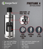 2016 Newest kanger 5ml protank 4 with ajustable airflow drip tips from Heaven Gifts