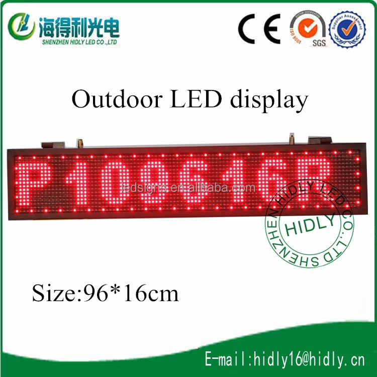 Top selling products in alibaba P10 Outdoor LED Moving Sign Display