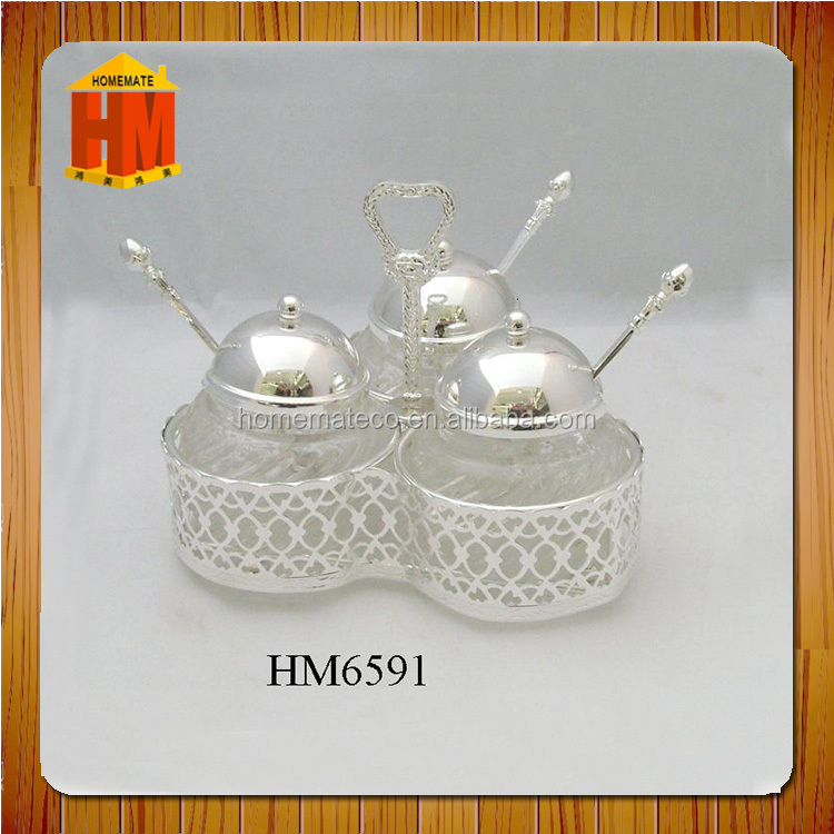 Hot sale wood lid ceramic sugar pot with spoon with handle