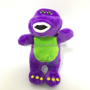 HI CE promotion for barney plush toy for kids with music,movie character barney stuffed plush doll for children