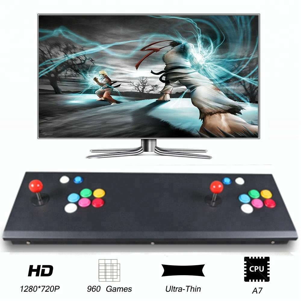 Winit 960 Classic Games Slim Metal Box Plug And Play 2 Players Joystick  Street Fighter Box Arcade Gaming Station - Buy Fighter Box,Gaming