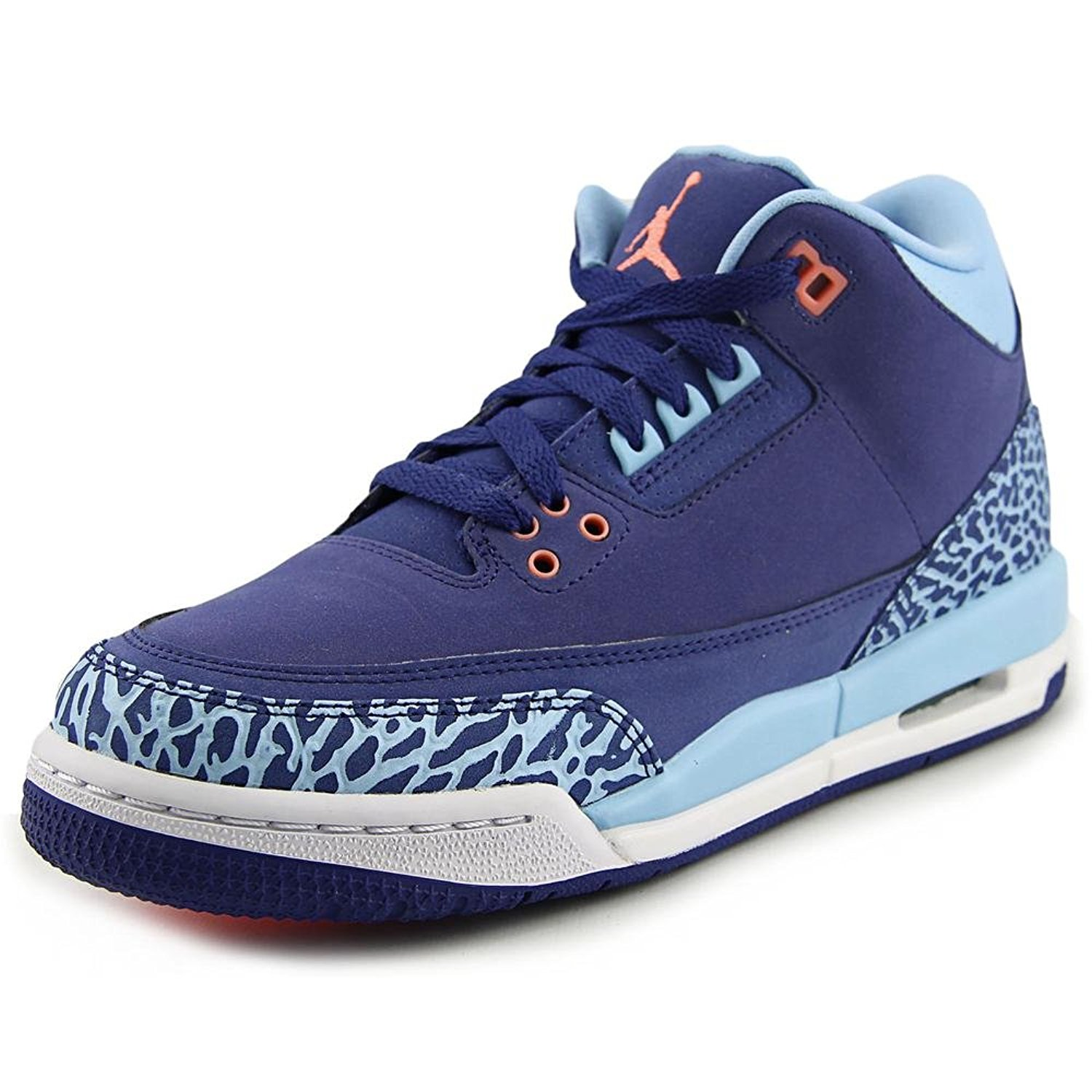 lowest price 86da1 ec00e Get Quotations · Jordan Air Jordan 3 Retro GS Youth Round Toe Canvas Purple  Sneakers