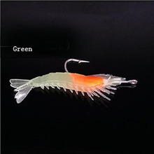 Beautiful Attractive Luminous Shrimp Shape Fish Lure Silicone Fishing Bait with Hook
