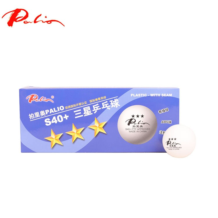 Palio ITTF approved 3 star table tennis ball D40+ seamed pingpong ball
