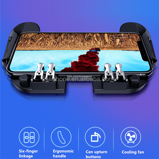 2019 hot sale mobile phone pc joystick gamepad H9 game handle with fan for pubg