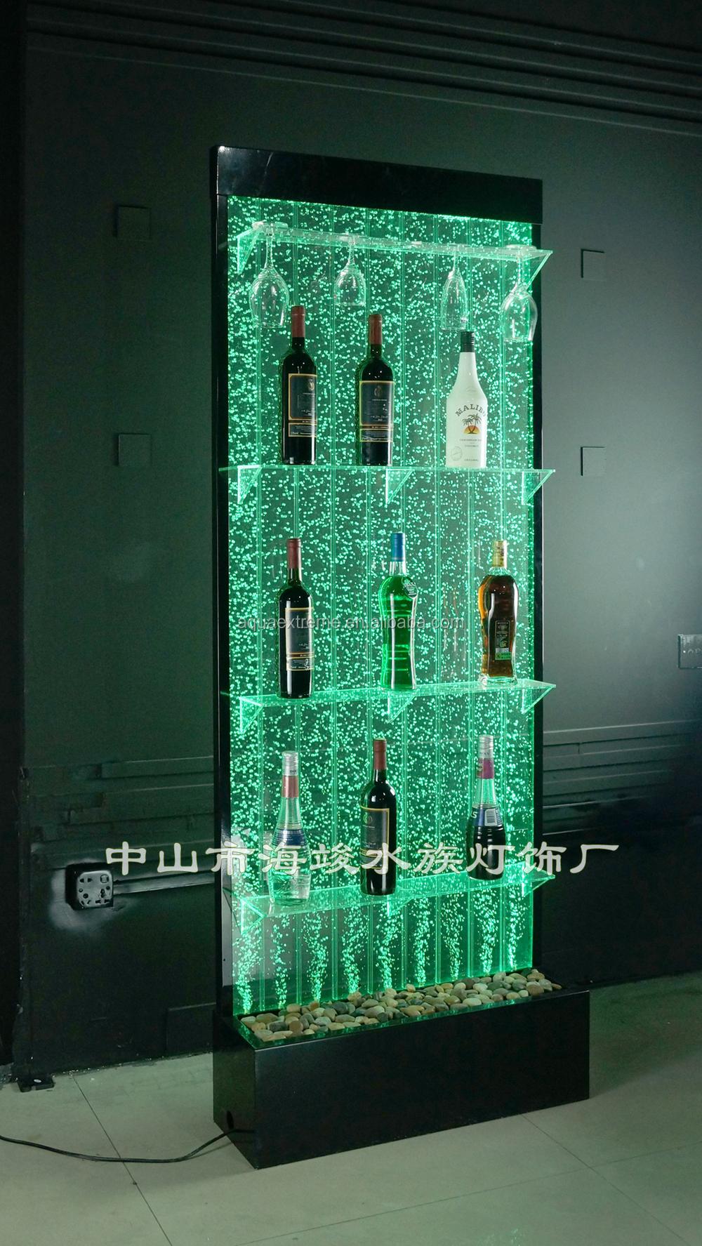 wine rack lighting. Led Lighting Bubble Water Liquor Display Rack,with Color Changing,Amazing Wine Rack