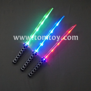Kids Toys Plastic Light Up Flashing Ninja Swords with Sound