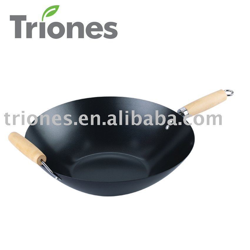 hot selling chinese black big wok with two handles