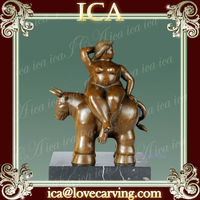 Bronze famous metal modern fat lady sculpture abstract