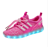 Children LED Light up Shoes Breathable Sports Shoes USB Luminous Lovers Shoes