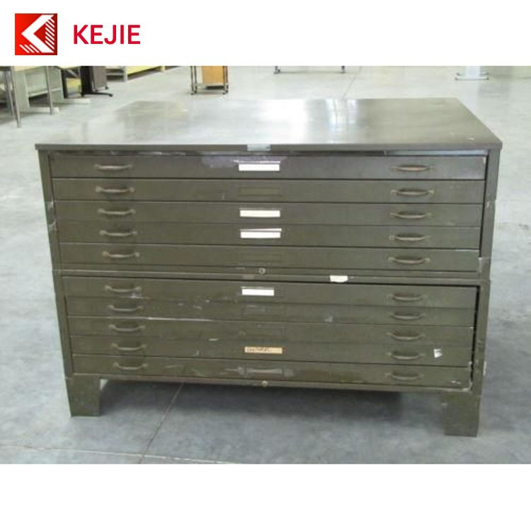 Fantastic Office Used A0 Paper A1 Size Map Cabinet Metal Plan Drawing Filing  QS48