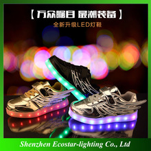 New deisgn children shoes led flashing shoes light for promotion