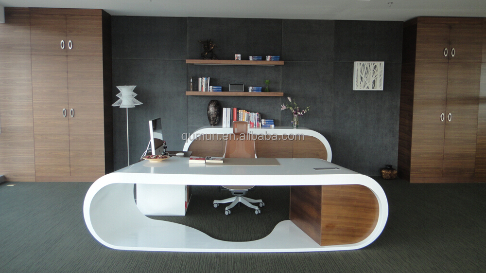 White Color Office Desk Made In China High End Executive