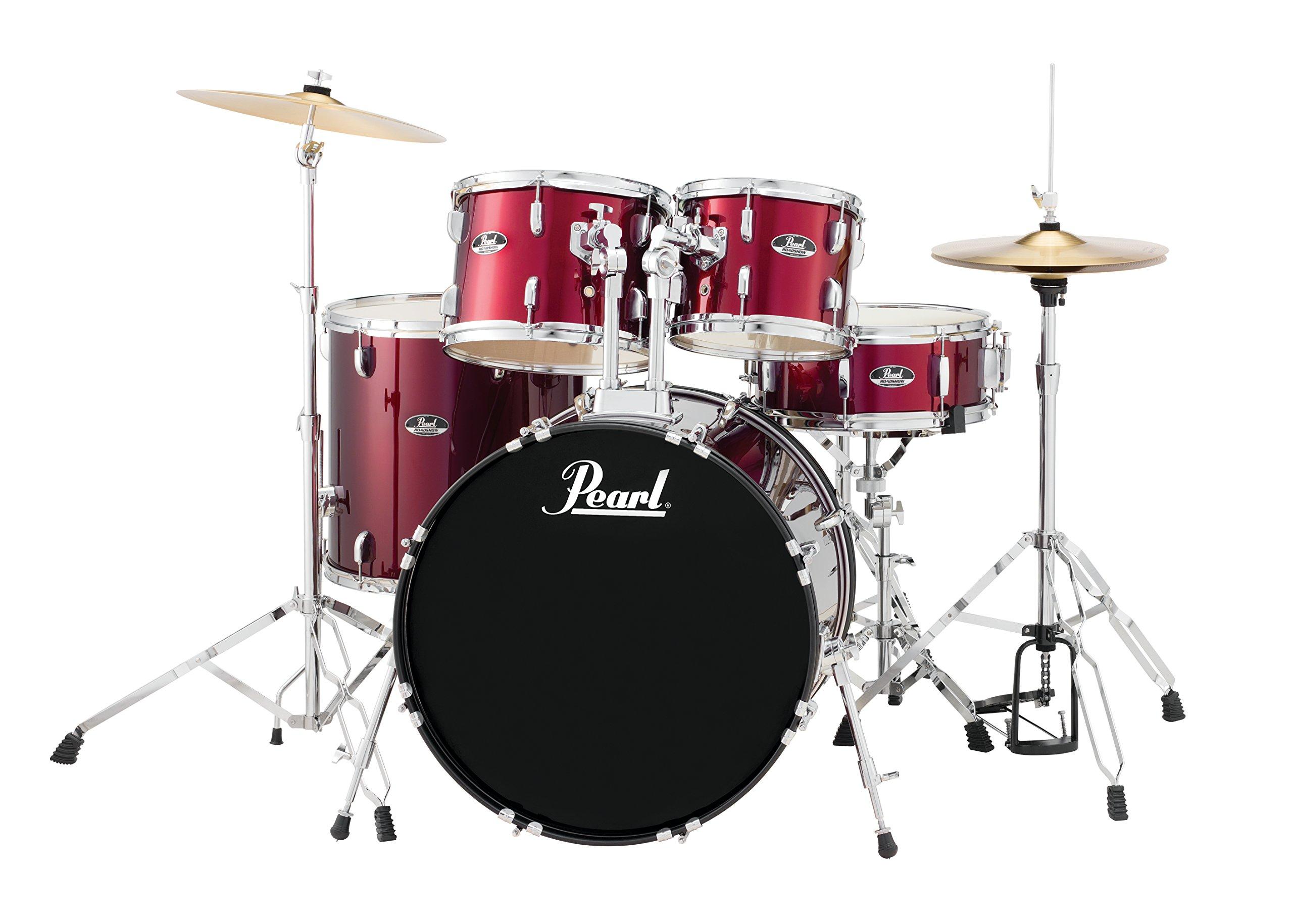 Pearl Roadshow RS525SC/C91 5-Piece Drum Set, Wine Red