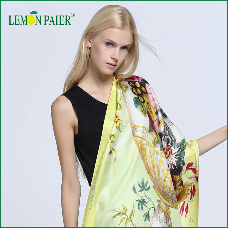 Custom Fashion Digital Print Large Size Silk Shawl