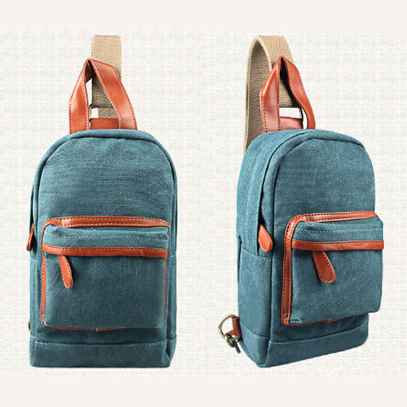 MY0563 New Fashion Vintage Men Messenger Bags Outdoor Travel Hiking Sport Casual Chest Canvas Shoulder Handbags Sport Canvas bag