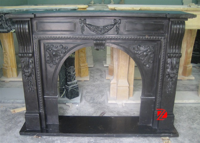 Modern continental fireplace mantel