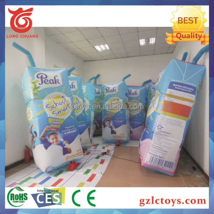 2017 Hot Selling Giant Inflatable Milk Cartoon Inflatable milk box for advertising display