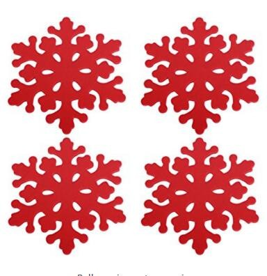 Custom Wholesale Laser Cut Felt Snowflake Christmas Placemat