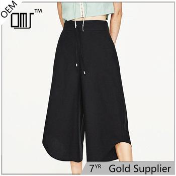 Para Las Asimétrico Vestir Pantalones De Buy Cordón Mujeres Negro vestido Mujeres Negro Vestido Culottes pantalones Pk0wOnX8