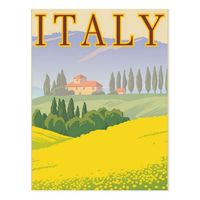 High qualityItaly Matte Italy Vintage Travel Tourism Postcard