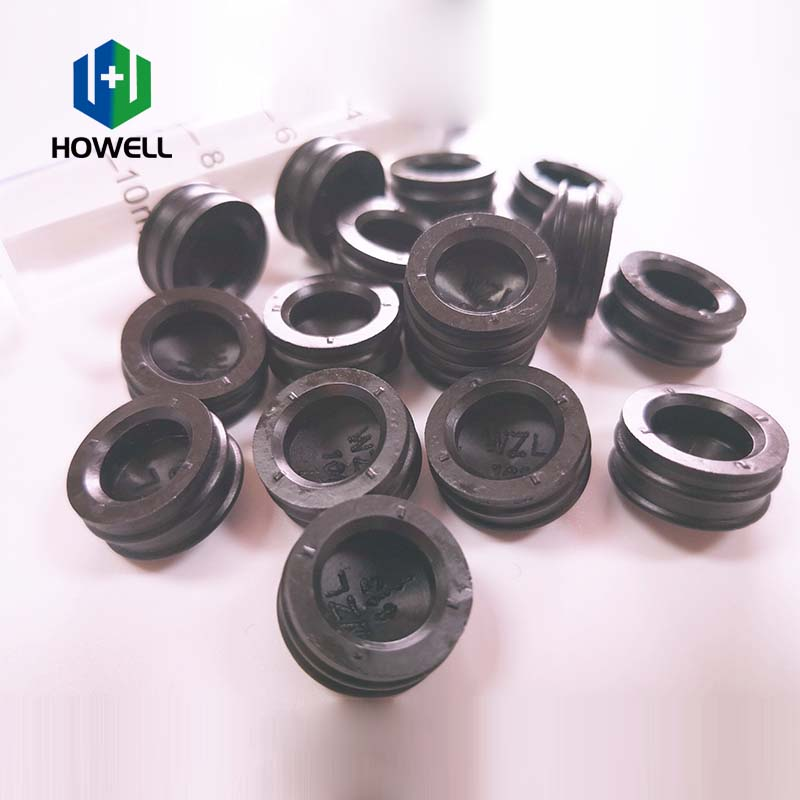 Wholesale silicone rubber piston 10ml black no allergic reaction plunger rubber