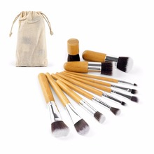 Tot 잘 팔리는 (High) 저 (Quality 인증제 Nylon Hair Bamboo Handle 11 개 <span class=keywords><strong>화장품</strong></span> 메이 컵 브러쉬 Kit Make Up Brush Set