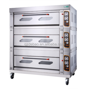 commercial gas deck oven 3 layers 6 trays gas baking oven