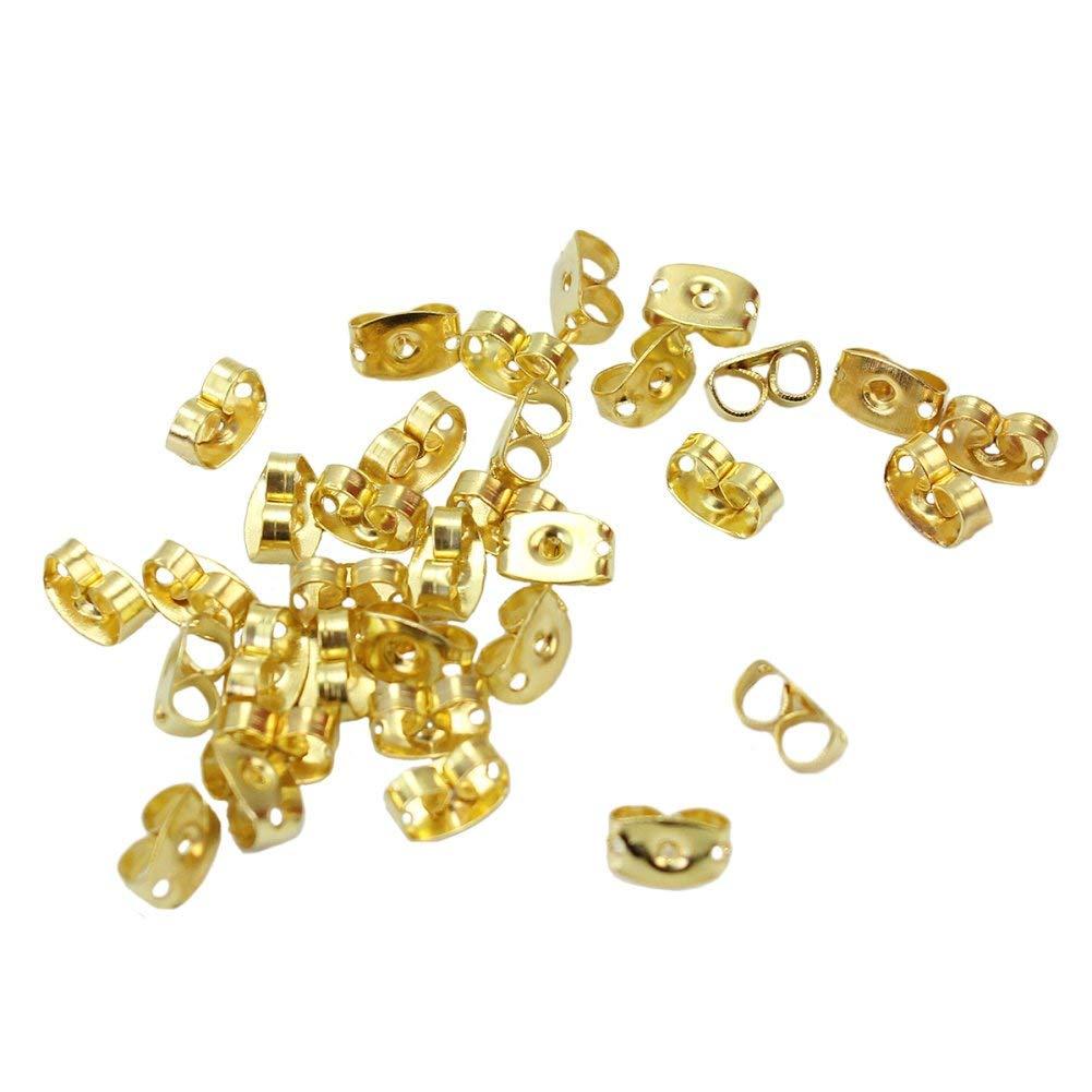 100pcs Gold Tone Butterfly Design Earring Back Stopper Jewelry Findings Kits Set
