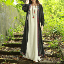 Wholesale High Quality Spring Autumn Long Women's Front Open Cardigan Abaya