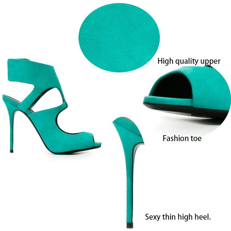 dae701fdbb2ce Hottest style kid suede upper fashion ladies high heel branded fancy sandals