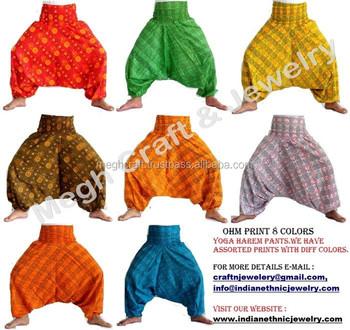 4931cc8aad9da Yoga Hippie Boho Alibaba Elastic Unisex Harem Genie Gypsy Aladdin Pants  Secret Santa Trousers Men/