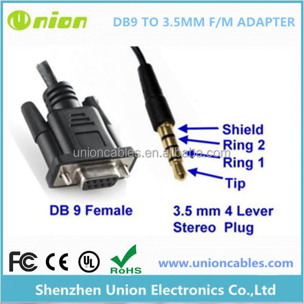 Stereo 3 5mm Audio Jack Db9 Cable De Datos A La