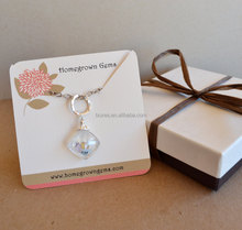 Custom printed logo paper earrings jewelry necklace display card