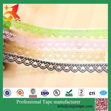 Easy tear stationery tape 10 years factory alibaba china supplier PVC lace tape ,lace tape