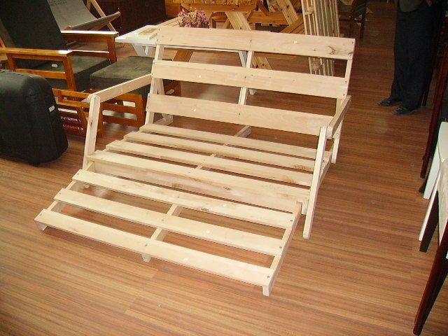 Futon sof cama de madera sof s para la sala de estar for Futon cama precio
