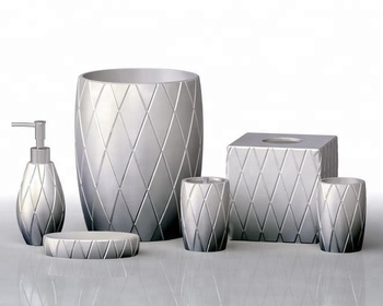Toilet Accessoires Set : Nordic modern resin fitting lines bath toilet accessories set buy