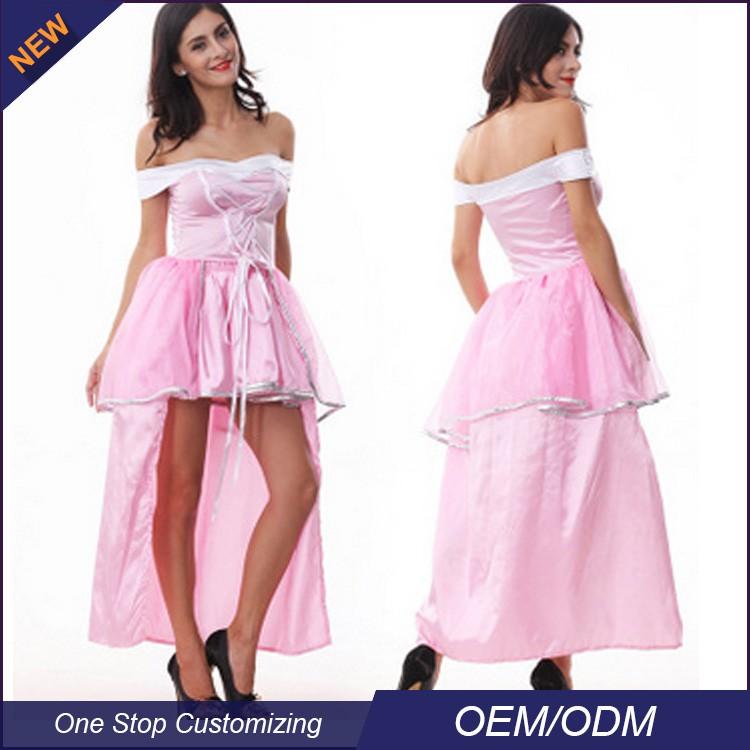 China precio de fábrica sexy vestido de dama de rosa princesa del ...