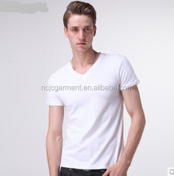 Lycra Cotton T Shirts Blank White Mens Tee Shirts T Shirt