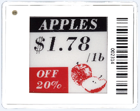 Vurgulamak 1.54 inç ESL elektronik raf etiketi dijital fiyat etiketi