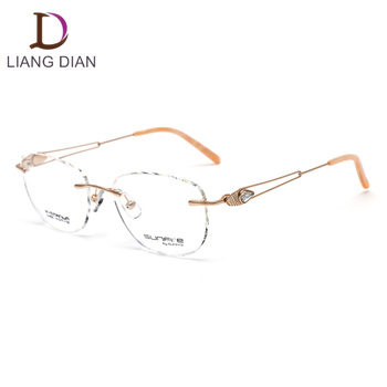 c7521509bfc Titan Rimless Spectacle Frames No Moq - Buy Ladies Spectacles ...