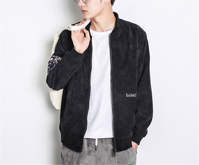 c06b9176c629 Get Quotations · Jamemcabin Bomber Jackets Men Streetwear Spring Basic  Baseball Pilot Jacket Mens Hip Hop Streetwear Plus Size
